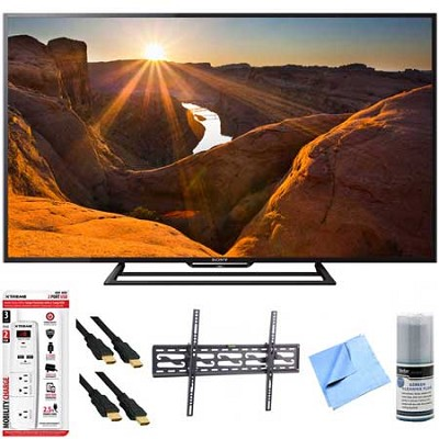 KDL-48R510C - 48-Inch Full HD 1080p 60Hz Smart LED TV Tilt Mount Hook-Up Bundle