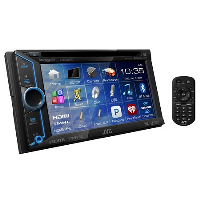 KW-V31BT DVD/CD/USB Bluetooth Receiver with 6.1` WVGA Touch Panel Monitor