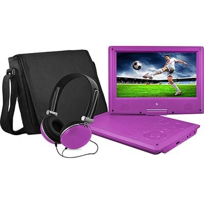 9-Inch Swivel Purple Portable DVD Player in Purple (OPEN BOX)