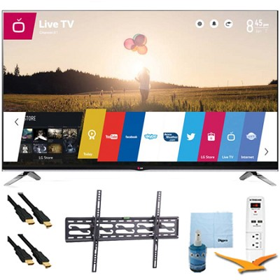 55`1080p 240Hz 3D LED Smart HDTV WebOS Plus Tilt Mount Hook-Up Bundle (55LB7200)