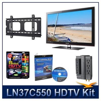 LN37C550 - HDTV + Hook-up Kit + Power Protection + Calibration + Flat Mount