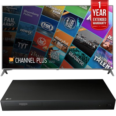 75` Class 4K UHD HDR Smart IPS LED TV with Extended Warranty + Blu-Ray Player