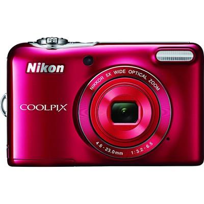 COOLPIX L32 20.1MP 720P HD Video Digital Camera - Red
