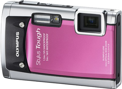 Stylus Tough 6020 Waterproof Shockproof Freezeproof Digital Camera (Pink)
