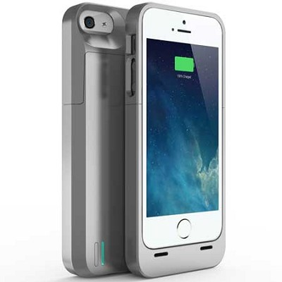DX-05 Protective Battery Case for iPhone 5/5s - Silver