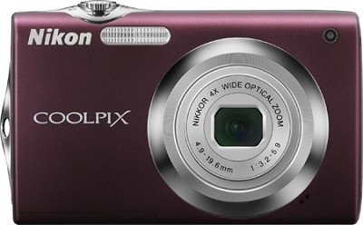 COOLPIX S3000 Digital Camera (Plum)