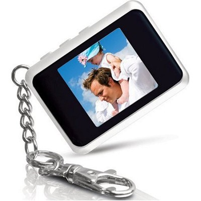 DP151WHT 1.5 ` Keychain Digital Photo Frame (Stores 60 Pictures) (White)