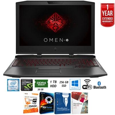 17-ap010nr Omen 17` Intel i7-7700HQ 16GB RAM Laptop +Extended Warranty Pack