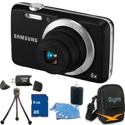 ES80 12MP Black Digital Camera 8 GB Bundle