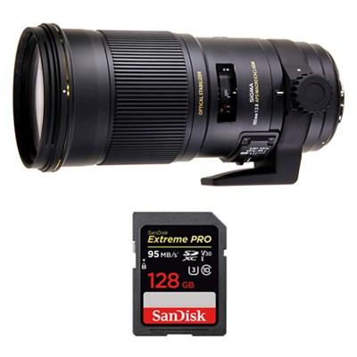 180mm F2.8 EX APO DG HSM OS Macro for Canon w/ Sandisk 128GB Memory Card