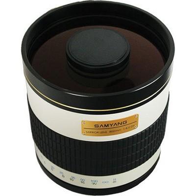 800mm F8.0 Mirror Lens - White Body - OPEN BOX