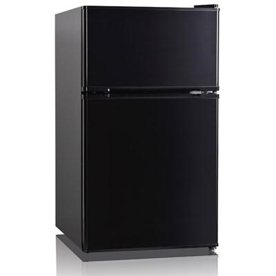 3.4 Cu ft 2 Door Refrig Black