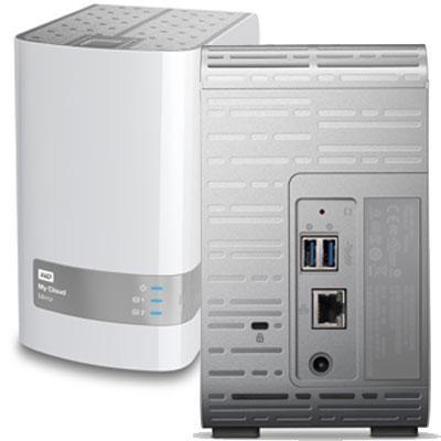 8TB My Cloud Mirror Personal Network Attached Storage - WDBWVZ0080JWT-NESN