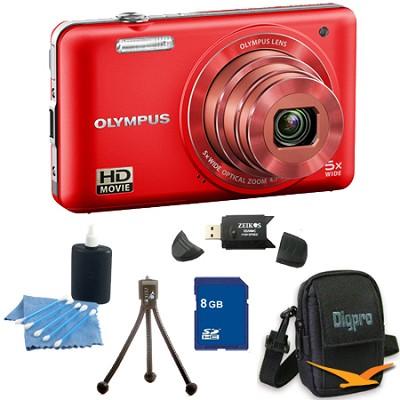 8 GB Kit VG-160 14MP 5x Opt Zoom Red Digital Camera - Red