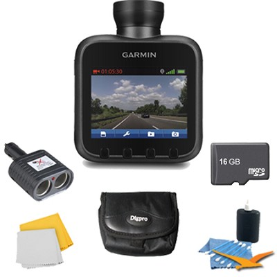 Dash Cam 10 Standalone HD Driving Recorder Plus Deluxe 16 GB Accessory Bundle