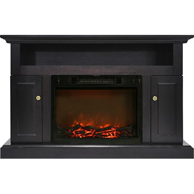 47.2 x15.7 x30.7  Sorrento Fireplace Mantel with Log Insert