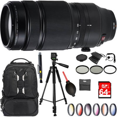 Fujinon XF100-400mm F4.5-5.6 R LM OIS WR Telephoto Zoom X-Mount Lens + Kit