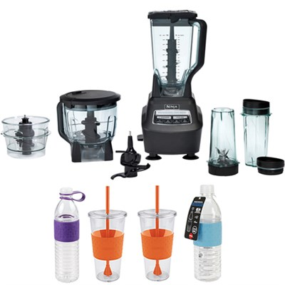 BL771 Mega Kitchen System Table Top 1500-Watts Blender w/ Copco Bottles Bundle