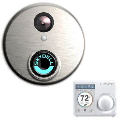 HD Doorbell With Xtreme Smart Wi-Fi Thermostat Home Automation Bundle