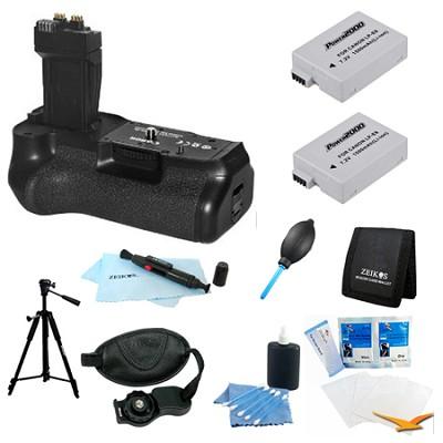Ultimate BG-E8 Battery Grip Bundle for EOS Rebel T4I, T3I and T2I