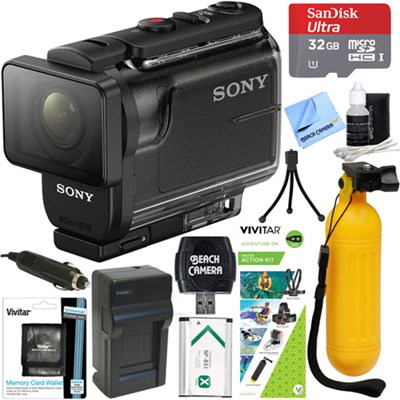 HDR-AS50/B Full HD Action Cam + Water Action Kit & Memory Bundle