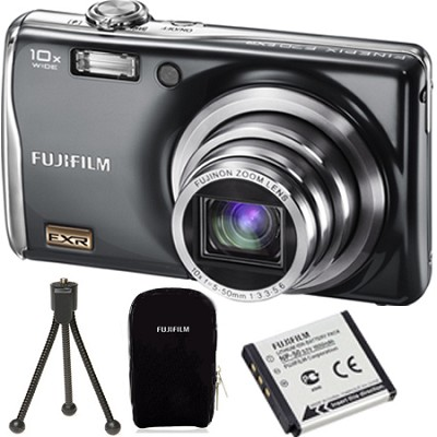 FinePix F70EXR 10MP Digital Camera Value Bundle :Case,Tripod and Extra Battery