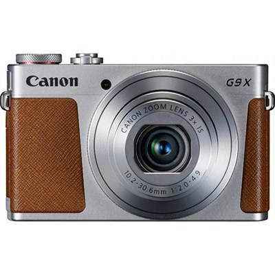 PowerShot G9 X Digital Camera w/ 3x Optical Zoom, Wi-Fi and 3 inch LCD - Silver
