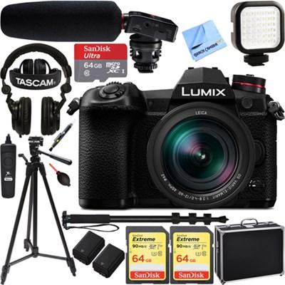 Lumix DC-G9 Mirrorless Micro Four Thirds Camera Body + Lens & Pro Video Bundle