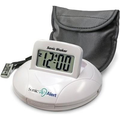 SBP100 Sonic Boom Portable Vibrating Alarm Clock