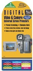 Digital Camera and Camcorder  Screen Protectors for LCD's up to 3.8 inches