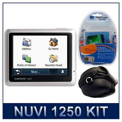 nuvi 1250 North America City GPS Total Care Kit with Case and Cleaning Kit
