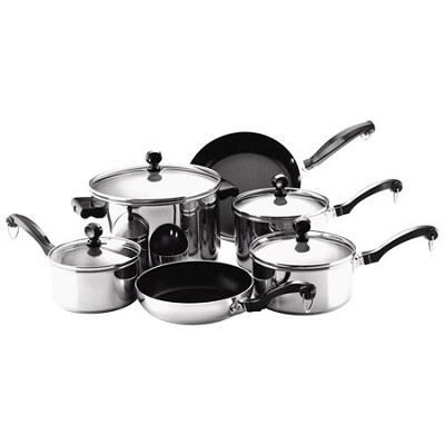 71237 Classic Stainless Steel 10-Piece Cookware Set