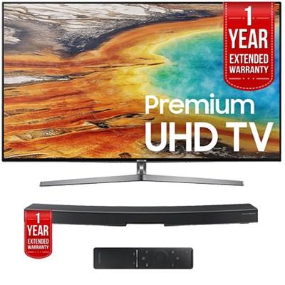 UN75MU9000FXZA 74.5` UHD Smart LED TV 2017 + Smart+ Soundbar Extended Warranty