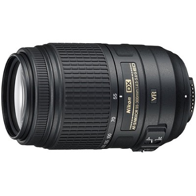 AF-S NIKKOR 55-300mm f/4.5-5.6G ED VR Zoom Lens - Factory Refurbished