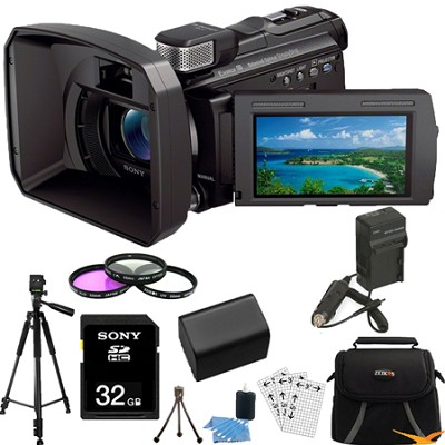 HDR-PJ790V 96GB Full HD Camcorder 24.1 MP stills w/ Projector Essentials Bundle