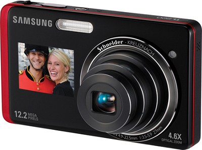 TL220 DualView 12MP 3.0 inch Touchscreen LCD Digital Camera (red)