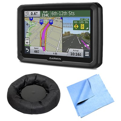dezl 570LMT 5` Truck GPS Navigation w Lifetime Map Traffic Friction Mount Bundle