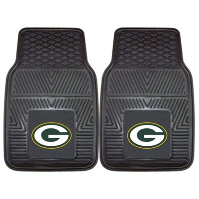 NFL Green Bay Packers Vinyl Heavy Duty Car Mat - Set of Two