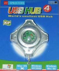 USB 2.0 Four Way Hub