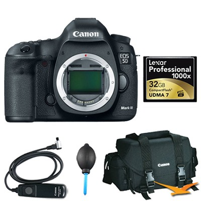EOS 5D Mark III 22.3 MP Full Frame CMOS DSLR Camera (Body) Plus 32GB Memory Kit