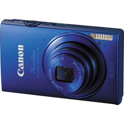 PowerShot ELPH 320 HS 16MP Blue Digital Camera 5x Optical Zoom 3 inch Touch LCD
