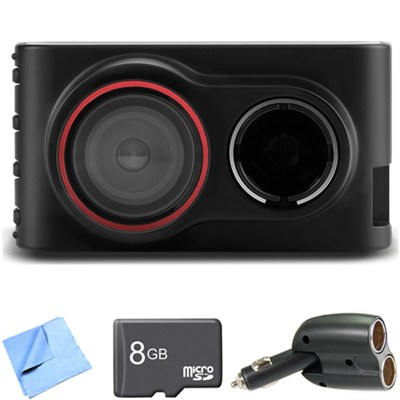 Dash Cam 30 Standalone HD Driving Recorder 8GB microSD Card Bundle
