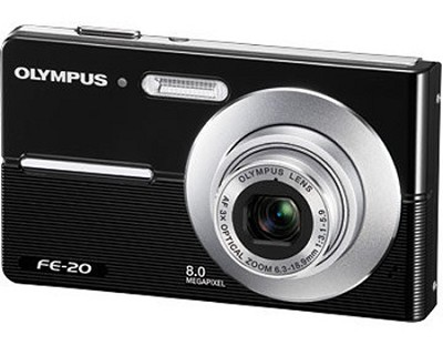 FE-20 8MP Digital Camera (Black) - REFURBISHED