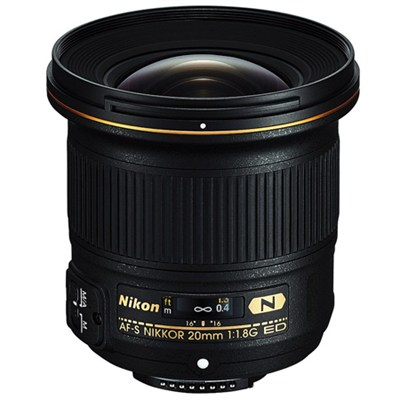 AF-S NIKKOR 20mm F/1.8G ED Lens - OPEN BOX