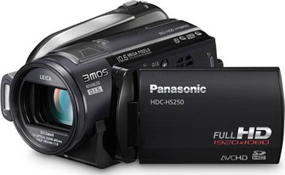 HDC-HS250K - High-definition 120GB HDD / SD card Camcorder (Black)