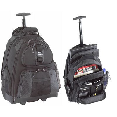 Rolling Notebook Backpack in Black - TSB700