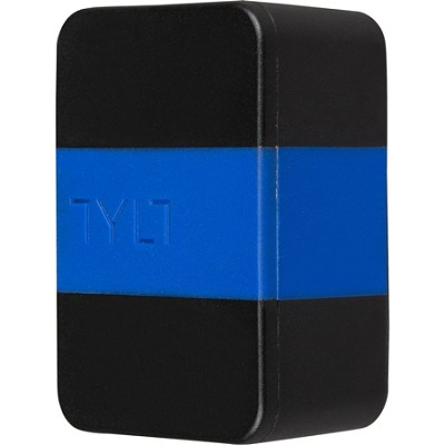 WALL - 2.1A Travel Charger for Universal USB - Black/Blue