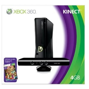 Xbox 360 Console 4GB with Kinect and Kinect Adventures S4G00086