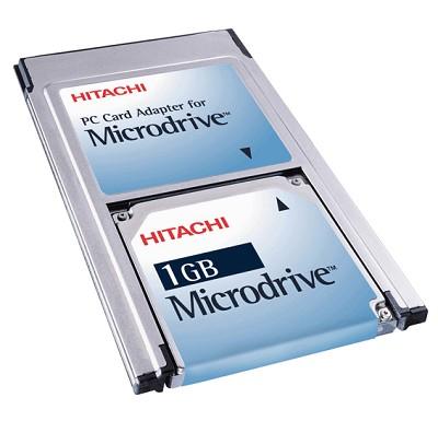 1Gig. HITACHI MicroDrive Kit {W/ PCMCIA Adapter}