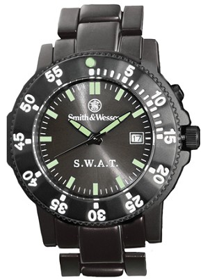 SWW-45M S.W.A.T. Back Glow Watch with Metal Band